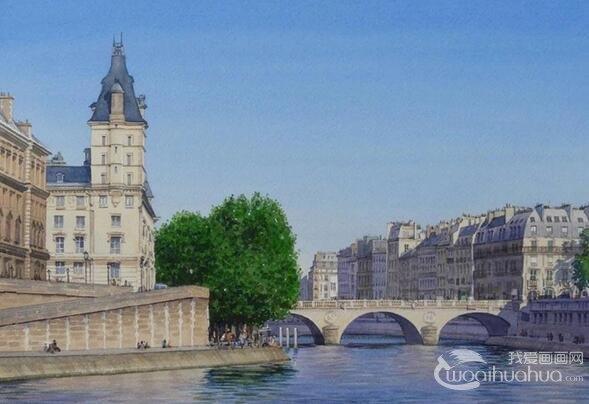 法国写实水彩画家蒂埃里.杜瓦尔作品赏析