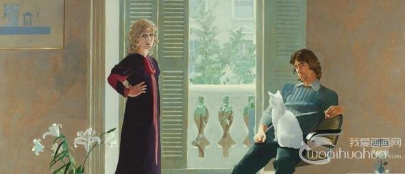 大卫・霍克尼名画里的长裙登上拍卖台
