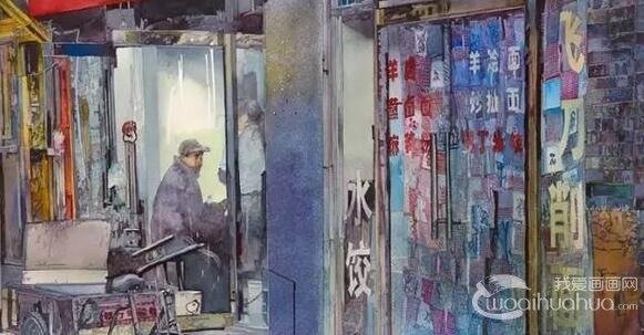 太惊艳了!美国画家笔下的水彩中国
