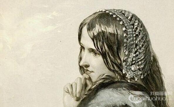 名家素描:莎士比亚贵妇人物素描作品