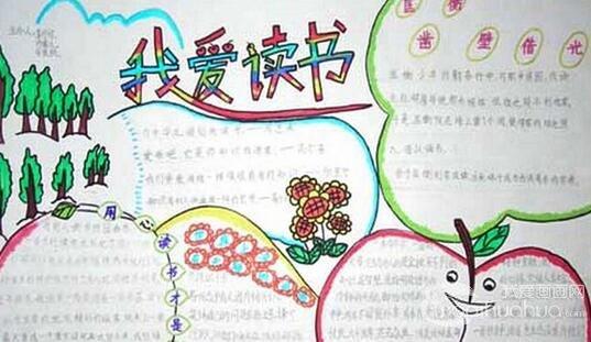 世界读书日手抄报版面设计图_儿童画教程_学画画_我爱