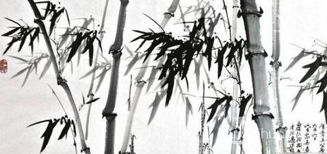 中国画教程:中国画墨竹的画法