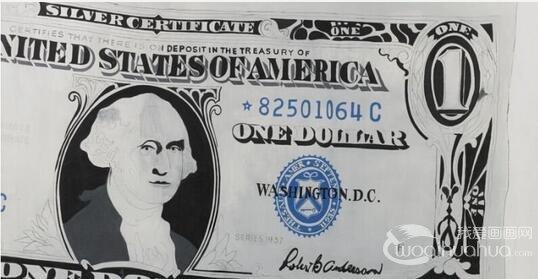 """安迪・沃霍尔""""一元美金""""纸币拍卖夺冠"""