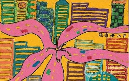 儿童水彩画:美丽的花朵水彩画欣赏