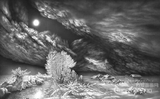 画家古拉姆风景素描画作品欣赏