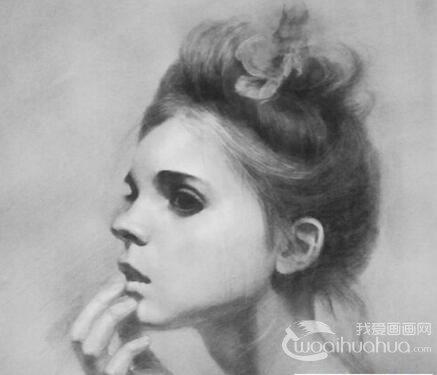 素描人物:素描头像正侧面的画法