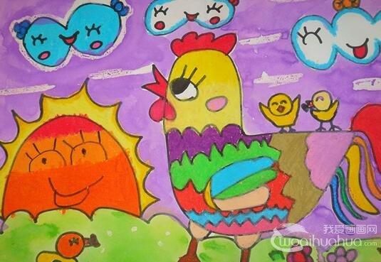 儿童水粉画:可爱的动物水粉画作品欣赏
