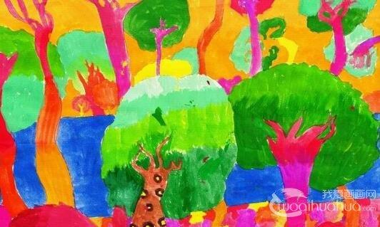 儿童水彩画:自然风景儿童水彩画作品欣赏