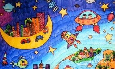 小学生科幻画比赛作品展示