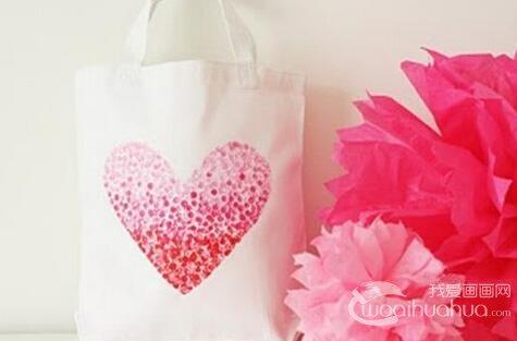 手工制作心形手绘环保袋教程