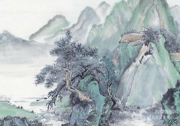 中国山水画之树木的基本画法