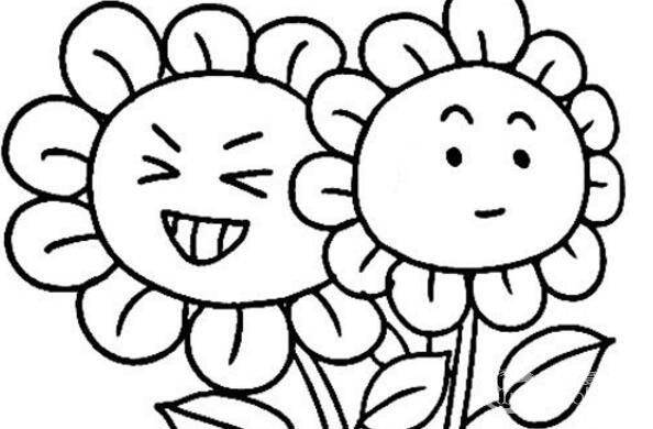 幼儿简笔画:向日葵简笔画教程