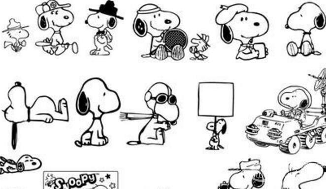 可爱简笔画欣赏:可爱的小动物简笔画(4)