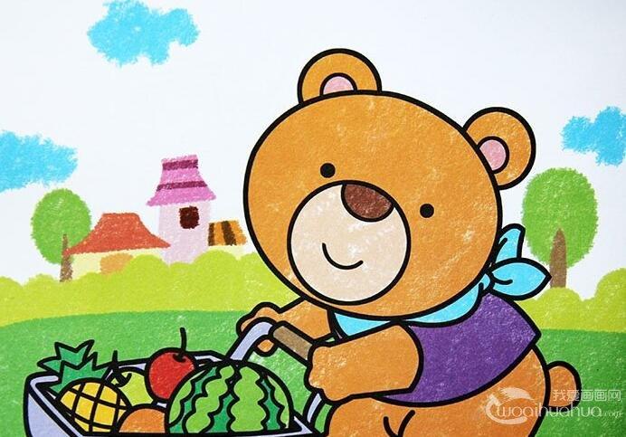 儿童学画画:油画棒绘画技巧