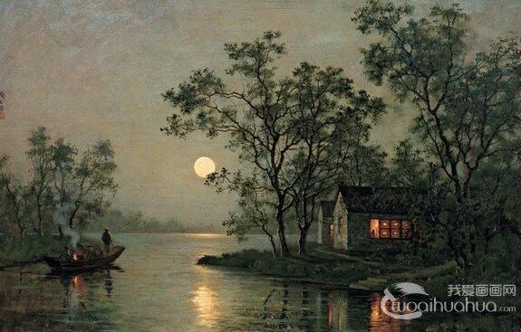 油画技巧:如何用油画表现月光