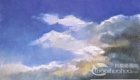 儿童油画教程:怎样画天空