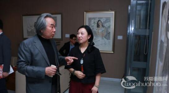 于栋华人物画作品展在天津鼎天美术公馆开幕