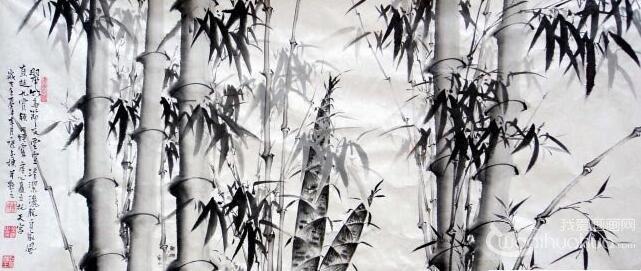 中国画竹子竹竿的画法
