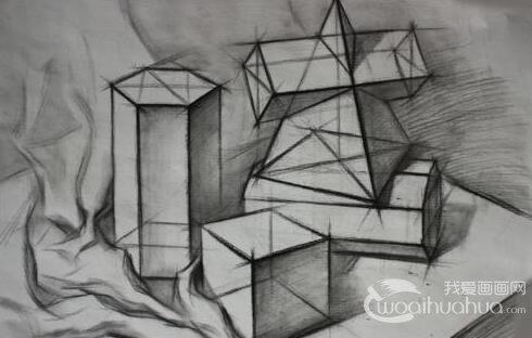 素描几何体正方体步骤