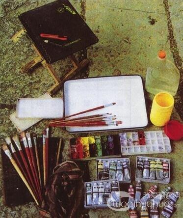 水粉画的工具和材料