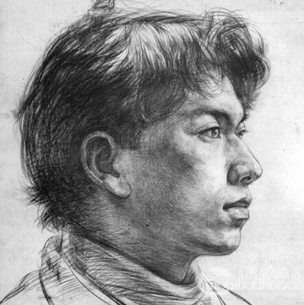 素描头像:男青年肖像素描写生步骤