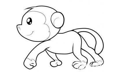 怎么画猴子:猴子简笔画教程图解