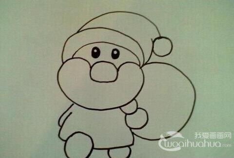 简笔画教程:如何画圣诞老人