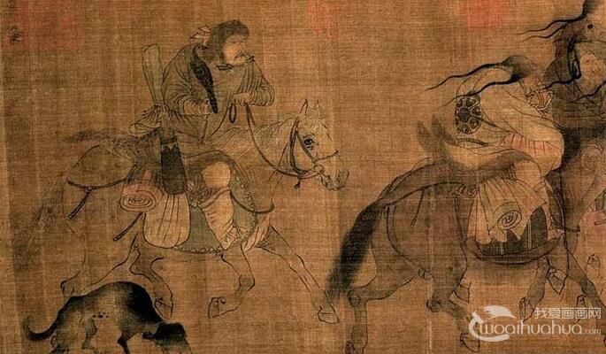 张�r《文姬归汉图》_描绘蔡文姬从匈奴归汉在漠北大风沙中的情景