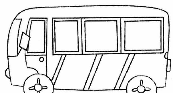 公共汽车简笔画图片大全 各种各样的公交车简笔画