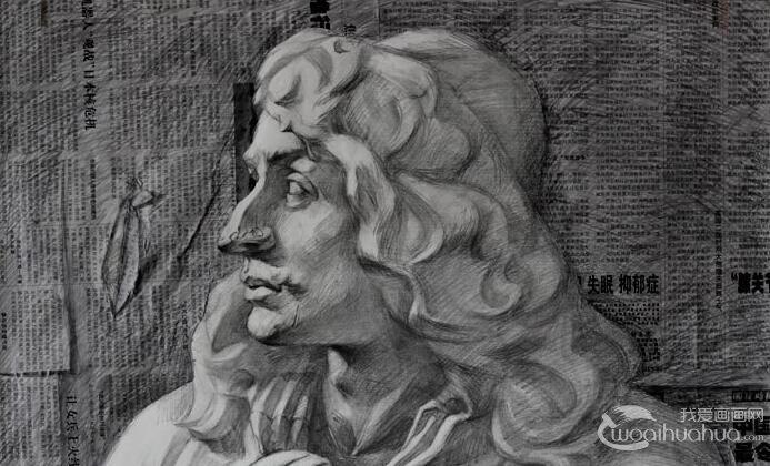 莫里哀胸像石膏像,莫里哀素描头像,莫里哀石膏素描图片