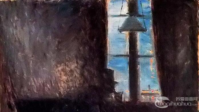 蒙克《圣克卢之夜》_蒙克早期室内油画风景作品高清大图赏析