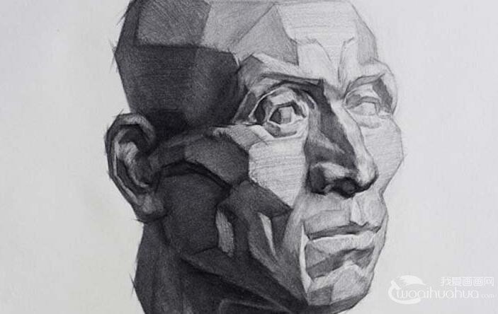 素描石膏头像写生教程:肌肉素描石膏像画法步骤