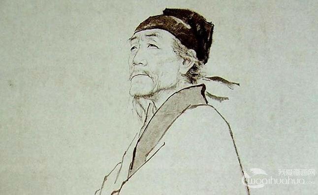 蒋兆和《杜甫像》_1959年作杜甫白描画像高清大图赏析