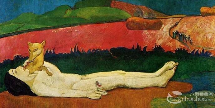 高更《失去童贞》_油画风景与人体艺术相结合的抽象意义油画作品