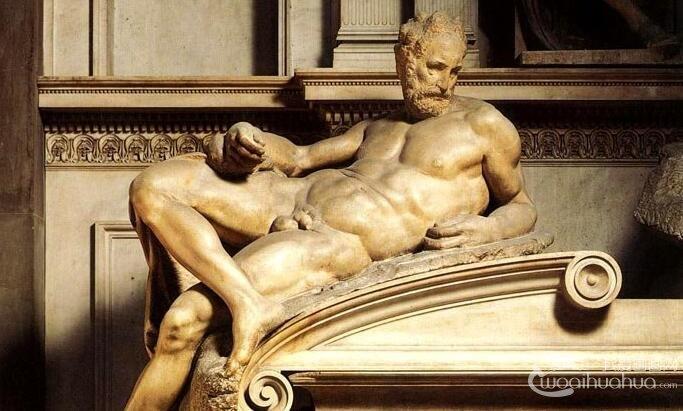 米开朗基罗《昼夜晨暮》_美第奇家族陵墓人体雕像组合赏析