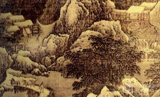 范宽《雪麓早行图》_宋代气势磅礴山水雪景国画高清大图赏析