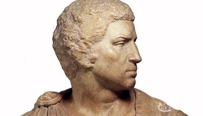 米开朗基罗《布鲁特斯胸像》_大师晚年人物雕像代表作品高清大图