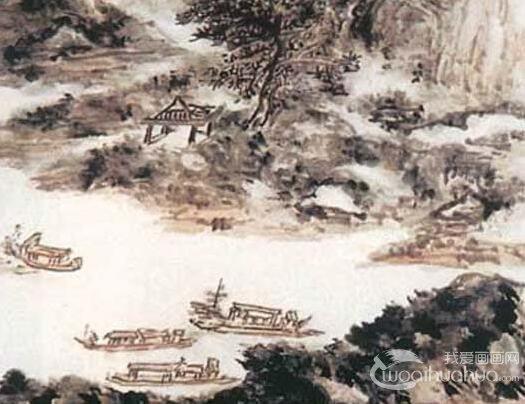 黄宾虹《湖山晴霭》_描绘江南秀丽景色的写意山水画佳作