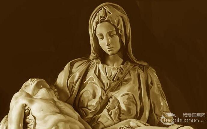 米开朗基罗《哀悼基督》_米开朗基罗23岁创作的著名雕塑作品