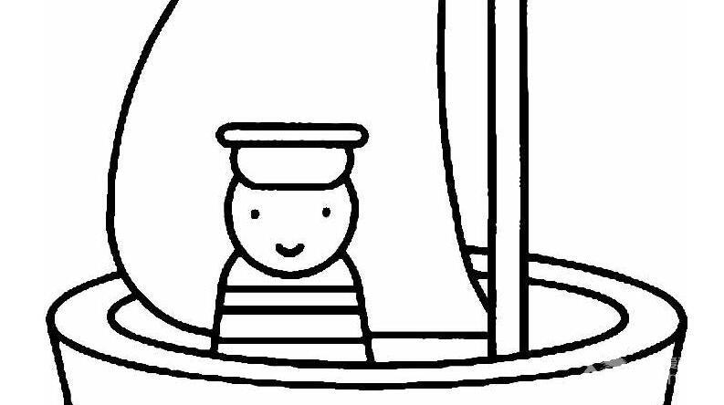 帆船简笔画图片,卡通帆船简笔画大全