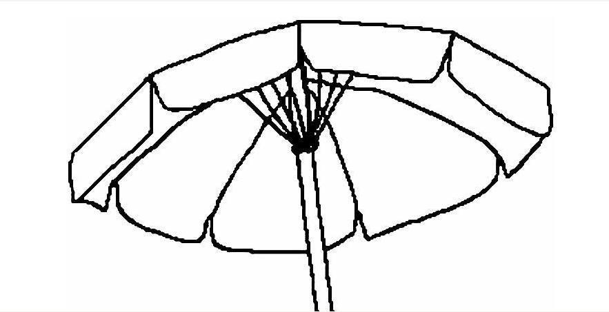 雨伞简笔画图片大全 各种各样的小雨伞简笔画