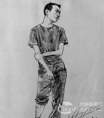 全身像人物速写:央美天美速写第一名刘旭全身像人物速写作品