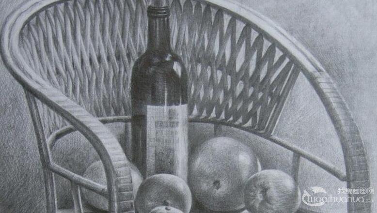 酒瓶素描结构图片步骤