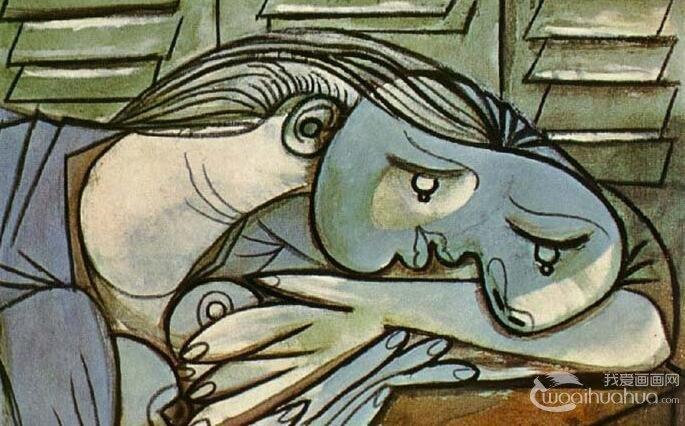 毕加索《百叶窗前沉睡的女子》_毕加索情人玛丽・特雷莎油彩+炭笔