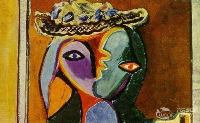 毕加索《双臂抱胸的女人》_毕加索天价人物抽象油画作品赏析
