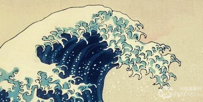 葛饰北斋《神奈川冲浪图》_日本浮世绘风俗风景画代表作品