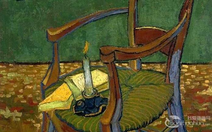 梵高《高更的椅子》_送别高更而创作的椅子静物油画作品