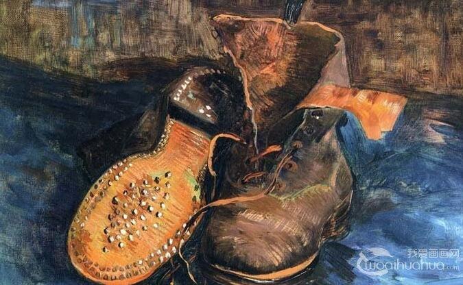 梵高《一双旧鞋子》_梵高两幅鞋子古典油画静物作品赏析