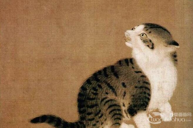 李迪《狸奴蜻蜓图》_描绘猫和蜻蜓的宋代工笔画名画