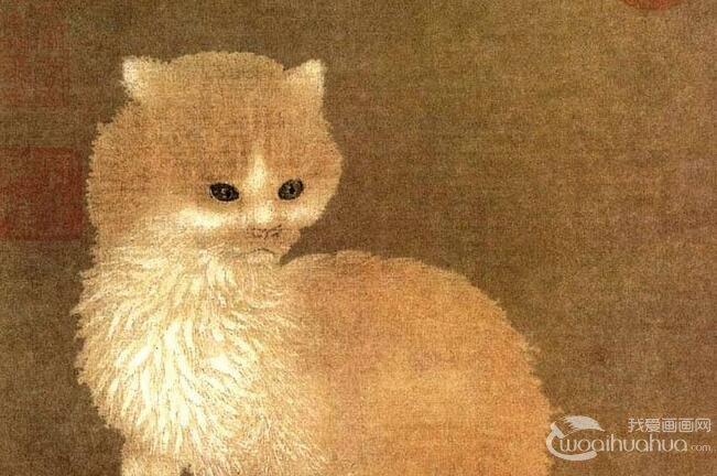 李迪《狸奴小影图》_描绘猫的写实工笔绘画精品